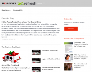 Tec-Refresh content on a ContentMX hosted microsite drives new traffic and captures leads.