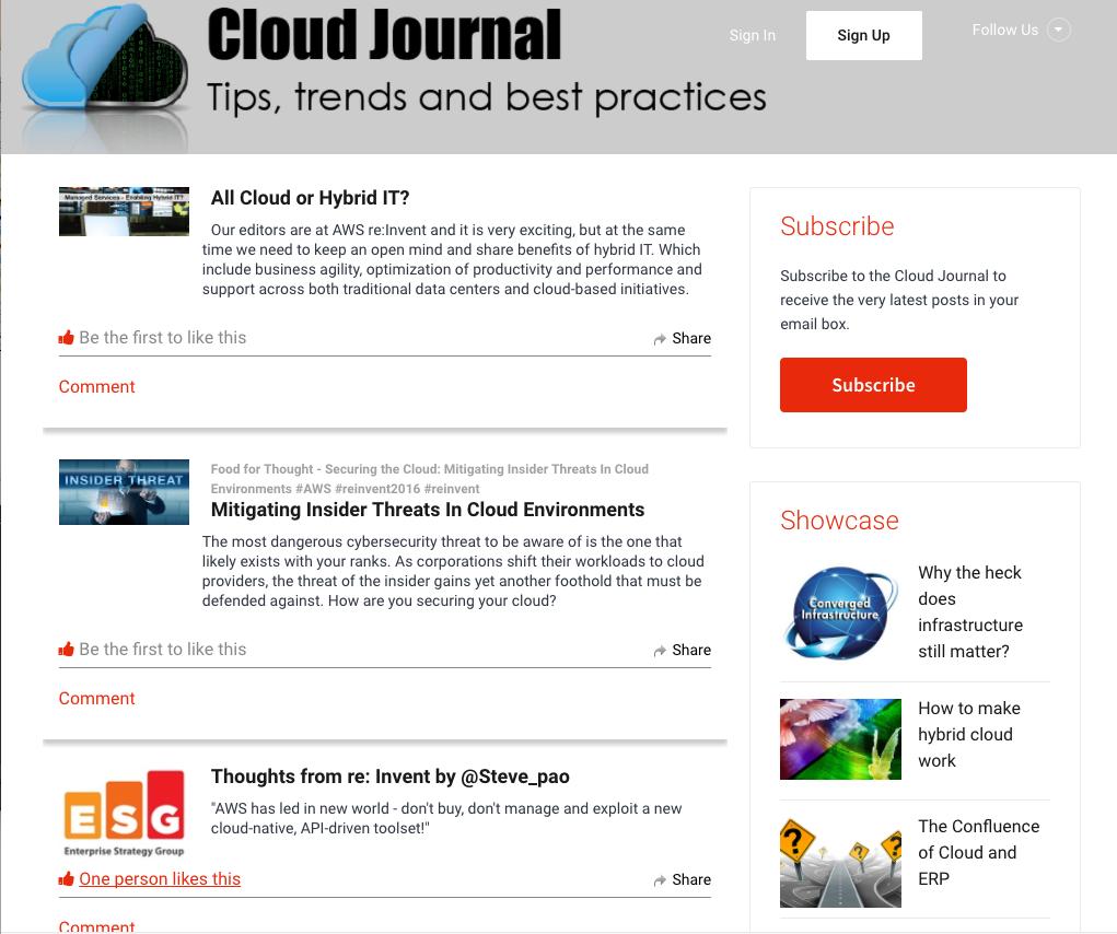 Cloud Journal Reaches IT Executives